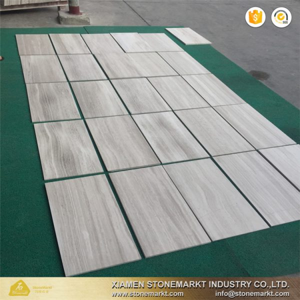 white wood tiles